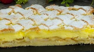 Особенный яблочный пирог с ванильным пудингом - нравится всем с первого кусочка! |