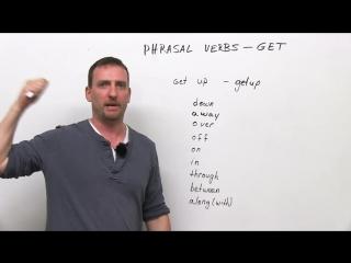 10 GET Phrasal Verbs: get down, get off, get through, get up, get away... (Learn English with Adam)  (transcript + quiz)