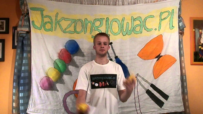14 How to juggle 4 balls Asynchronous Fountain tutorial żonglowanie 4 piłkami fontanna