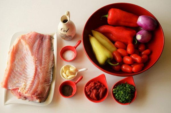 Запеченная рыба с овощами, изображение №2