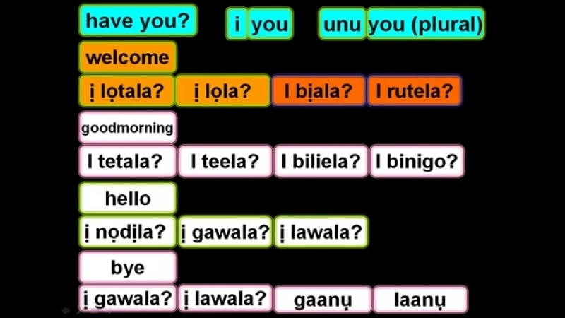 D6 Lets try non standard Igbo language greetings