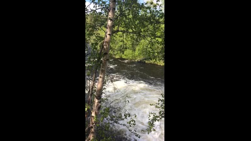 Водопад на реке Шуонийоки вблизи норвежской границы