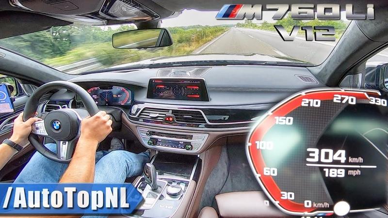 2020 BMW 7 Series M760Li 6.6 V12 BiTurbo | 304km/h on AUTOBAHN (NO SPEED LIMIT) by AutoTopNL