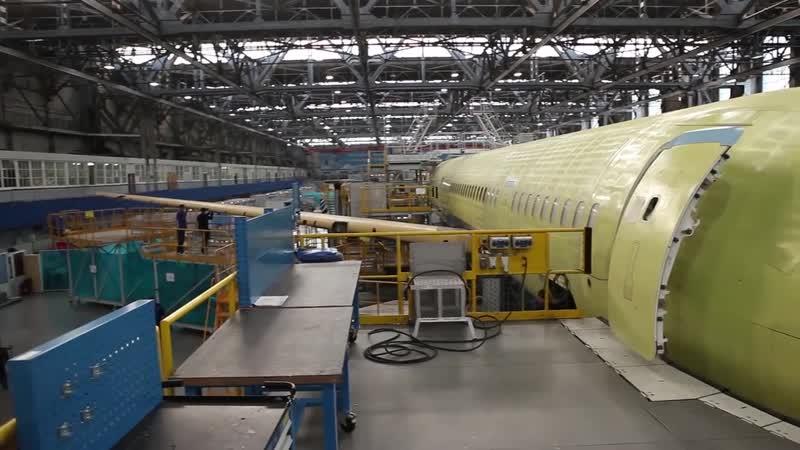 Четвертый опытный самолет МС-21-300 в цехе ИАЗ