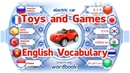 Lesson: Toys and Games   Learn English Vocabulary With Pictures   Word Book
