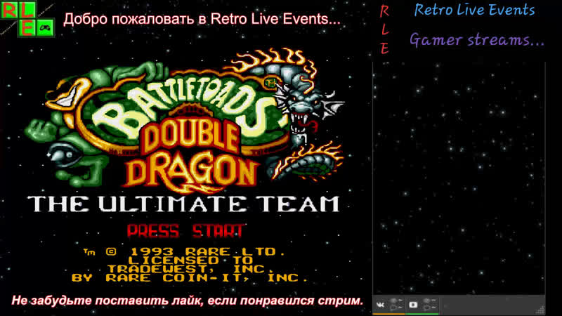 Battletoads and Double Dragon (SMD). Играет Gamer...