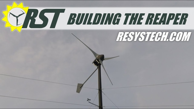 Building The 3 kW Reaper Off Grid Wind Turbine - Complete DIY Build - Plans Available 📄