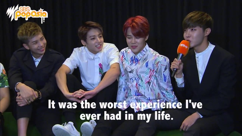 Bangtan PopAsia Interview - Jhope's most terrifying life experience?