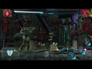 Entangling poison ivy gameplay / league of anarchy / injustice 2 mobile