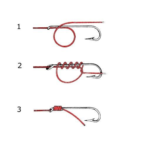 Как завязать крючок с лопаткой на леску