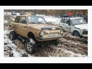 Мегазаз-zalua vs jeep grand cherokee (wj) и нивы off road зимняя танковая дорога