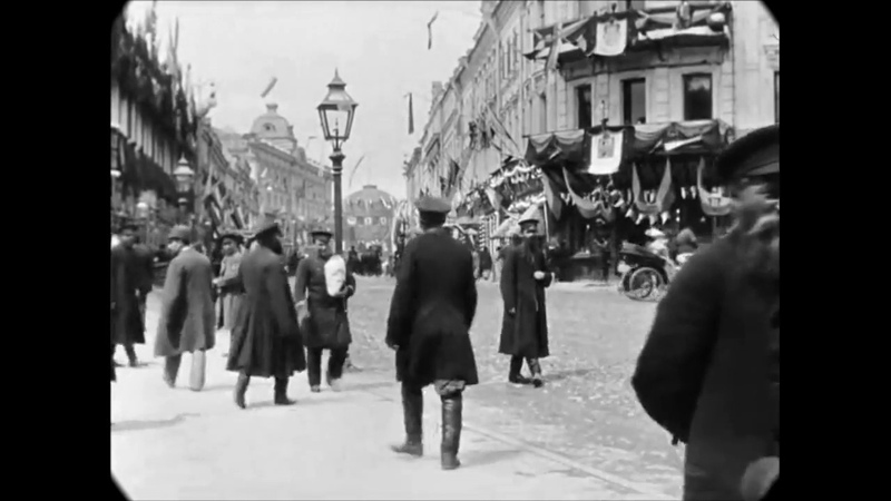 May 1896 Tverskaya Street in Moscow Russia speed corrected w added sound