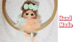 TÜLDEN PONPON BEBEK YAPIMI-TULD PONPON BABY MAKİNG-#diy #kendinyap #handmade