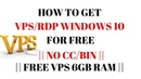 HOW TO GET VPS/RDP WINDOWS 10 FOR FREE (NO CC/BIN)    FREE VPS 6GB RAM    Connect Remote Desktop   