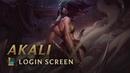 Akali the Rogue Assassin Login Screen League of Legends