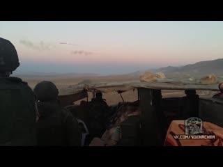 Командующий группировки войск наводит вертолёты ВКС РФ для удара по боевикам