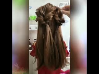 Поразительно простая и невероятно красивая причёска!