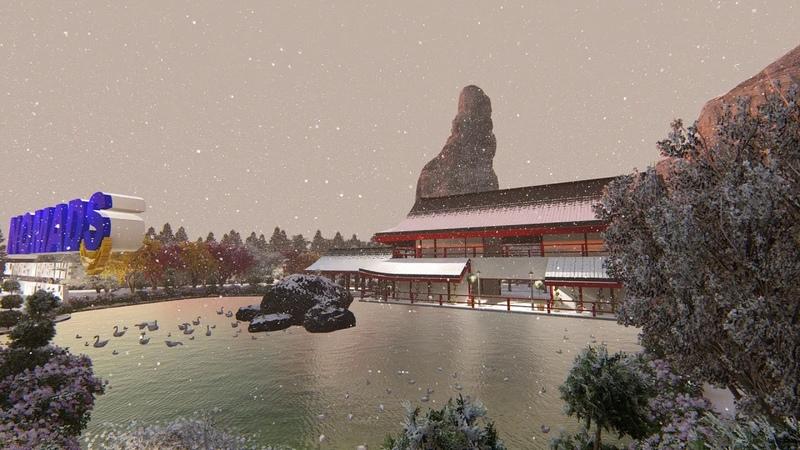 Winter in Japan 3D modeling Жапониядағы қыс мезгілі 3D жобалау