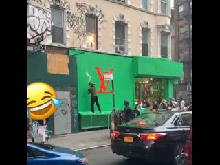 Graffiti vs. louis vuitton
