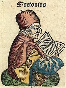 Портрет Светония (разумеется, портретаная фантазия) из «Нюрнбергской хроники» (1493).
