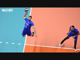 3m rear attack spikes ● full power. the volleyball craziest actions.