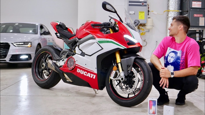 My New Ducati V4 Speciale House Tour iPhone X Giveaway