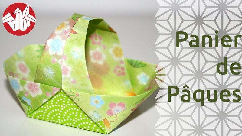 Origami Panier de Paques Easter Basket Senbazuru