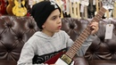 9 Year Old Jayden Tatasciore playing a Gibson Custom Shop Historic Flying V
