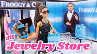 DIY - How to Make: Doll Jewelry Store inspired by Tiffany & Co