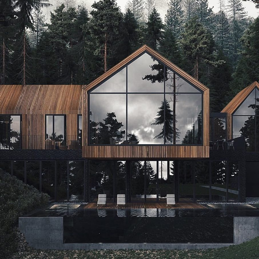 Forest House is designed and visualized by U-STYLE - Dinara Yusupova and is located in Ukraine