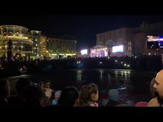 Открытие фонтана на Театральной площади