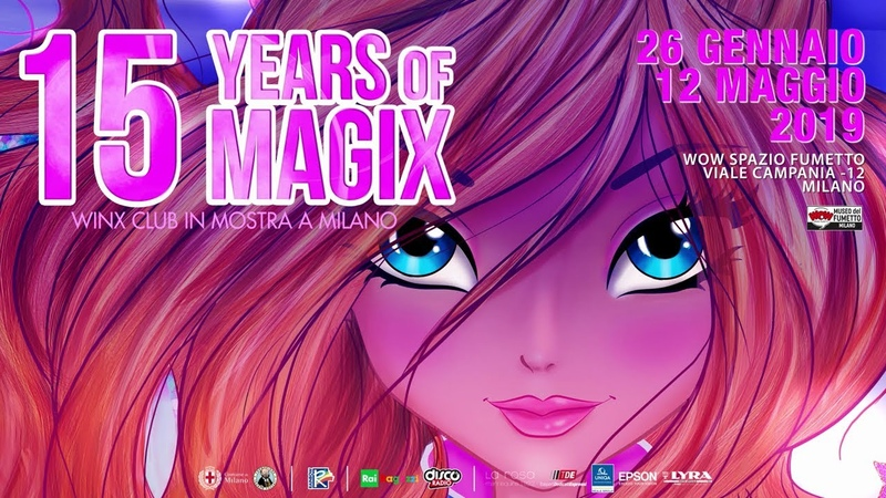 Winx Club Inaugurazione mostra 15 Years of Magix