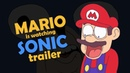 Mario is watching Sonic The Hedgehog (2019) - Trailer REACTION (animated)