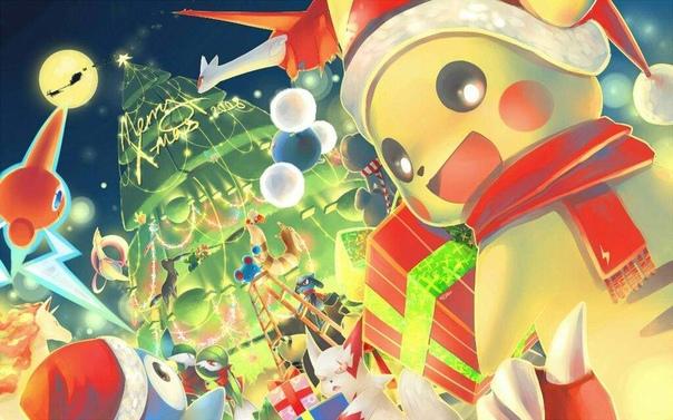 Новогодние Обои Покемоны