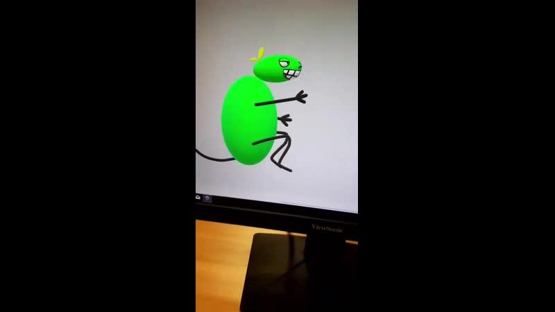 Пол литровая мышь на паре комп графики