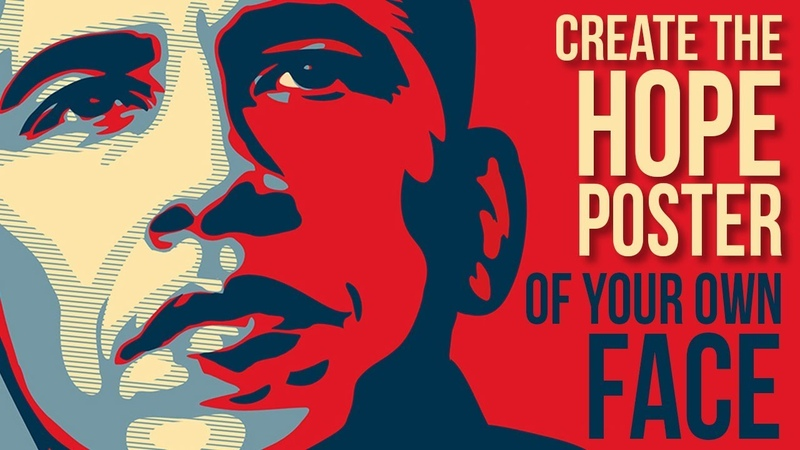 Photoshop Create Personalize Obama's HOPE Poster Design