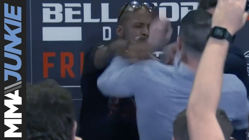 Bellator 227: Michael Page shoves Richard Kiely during face-off