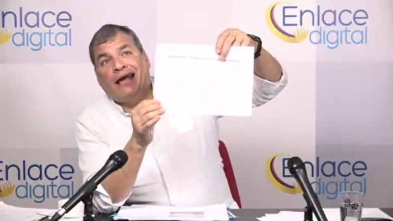 RAFAEL CORREA, JORGE GLAS DEBE SALIR EN LIBERTAD YA
