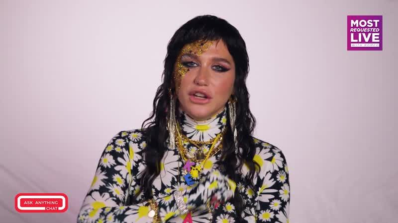 Kesha Talks Face Glitter, Birthing Cats Raising Hell