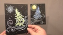 Diptych Fir Trees Greeting Cards | IOTN Speed Painting