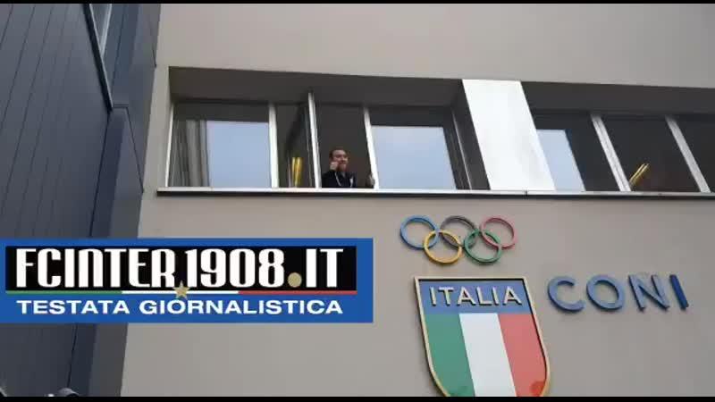 Eriksen il saluto ai tifosi dell'Inter