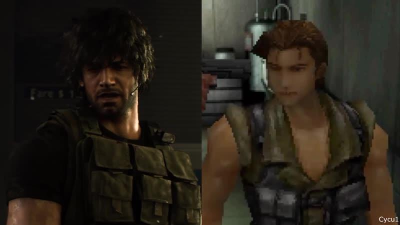 Сравнение графики оригинала и ремейка Resident Evil 3