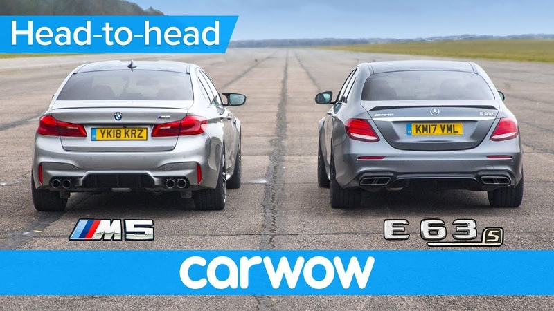 New BMW M5 vs Mercedes AMG E63 S DRAG RACE ROLLING RACE BRAKE TEST