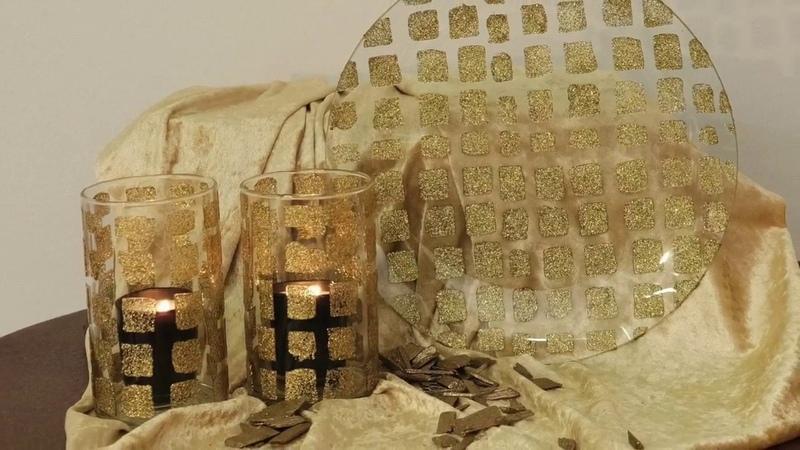 DIY LaBlanche goldener Dekoteller