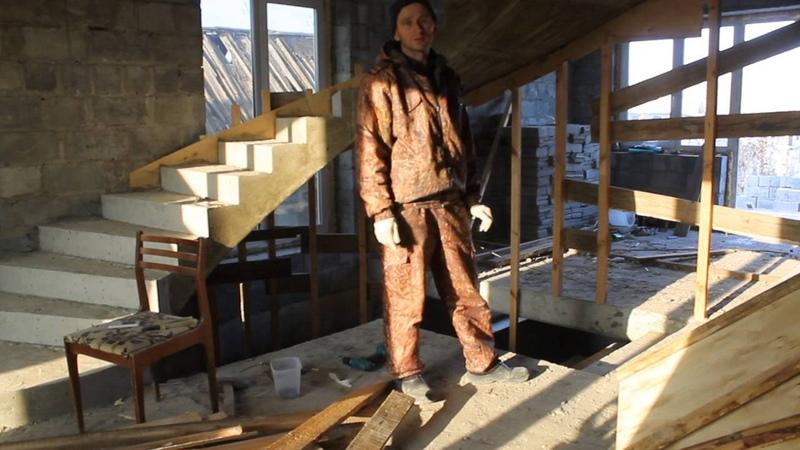 Бетонная винтовая лестница своими руками снятие опалубки