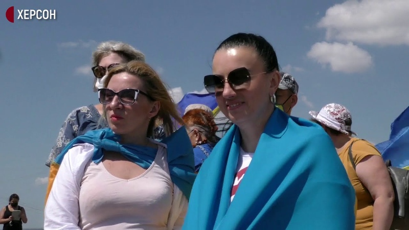 Жодної краплі води окупанту на Херсонщині на дамбі Північно Кримського каналу відбулась акція