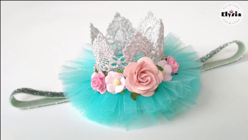 DIY Crown Headband for baby tutorial bando mahkota ala Elysia Handmade