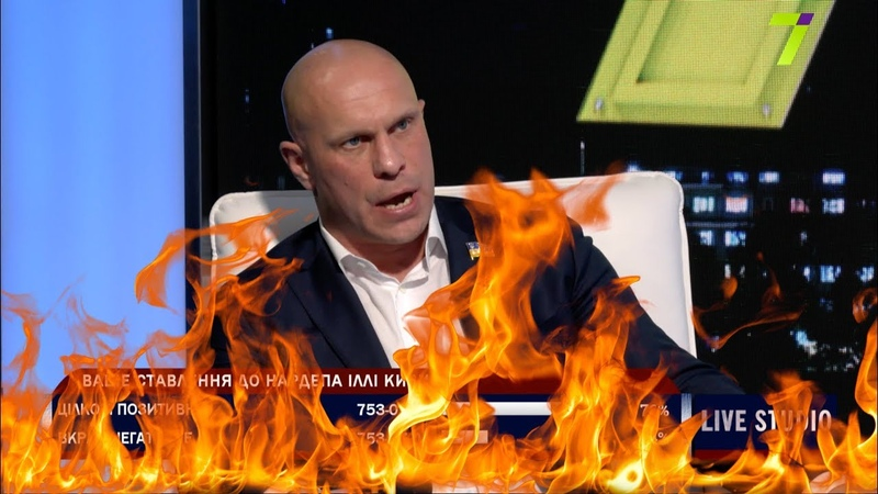 Ілля Кива згорів у прямому ефірі від запитання одесита про Стерненка
