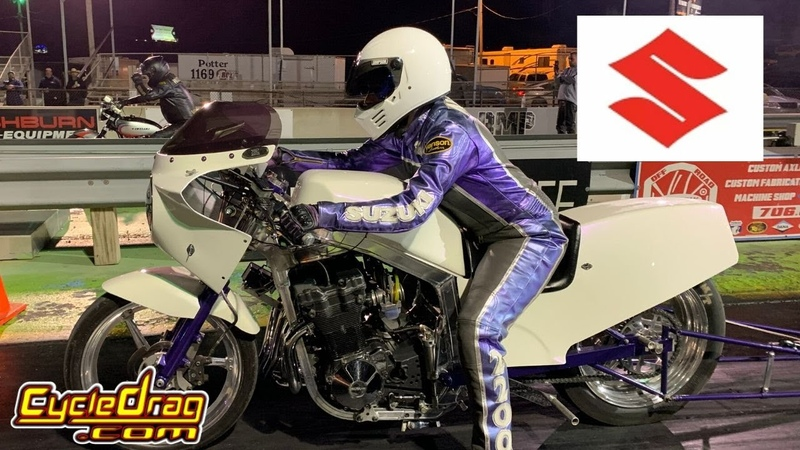 FAST FEMALE GSXR MOTORCYCLE DRAG RACER CALLS OUT OLD SCHOOL KAWASAKI KZ DRAG BIKE RACER