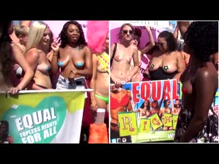 Boom boom (free the nipples) go topless day (venice beach usa)